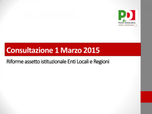 Slide consultazione sulle autonomie locali
